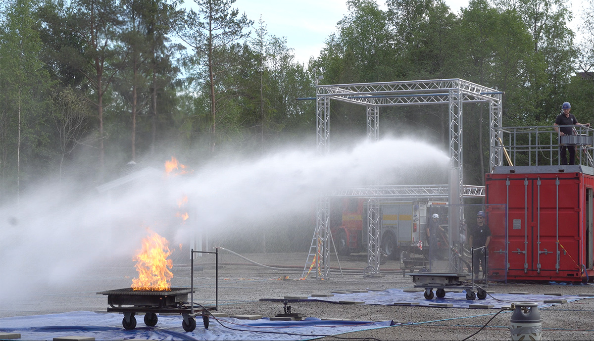 Unifire's FlameRanger™ Fire Fighting Robot Tested for Ro-Ro Ship Safety