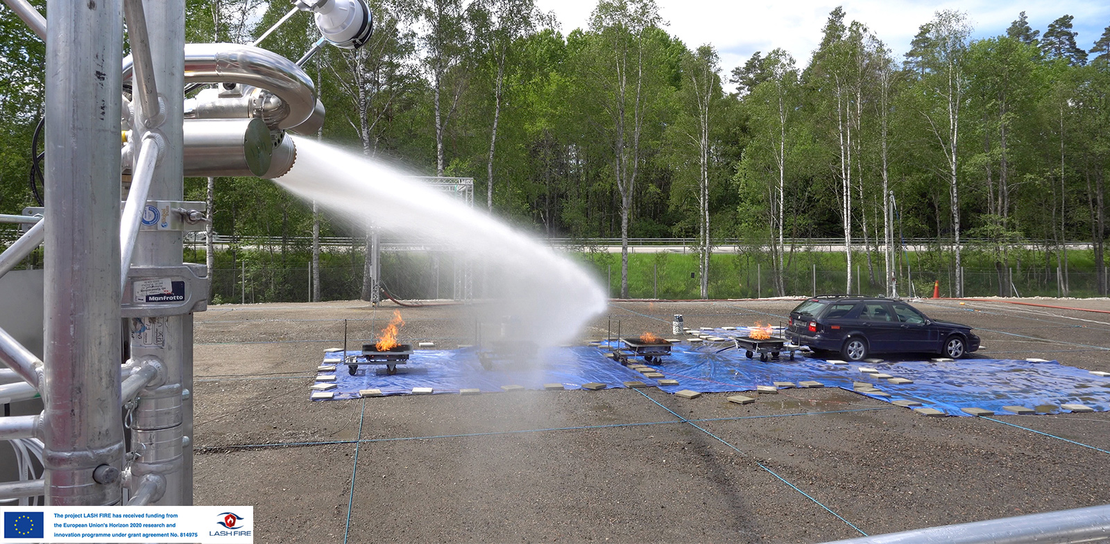 Unifire FlameRanger Autonomous Fire Detection & Suppression System - LASH FIRE Tests