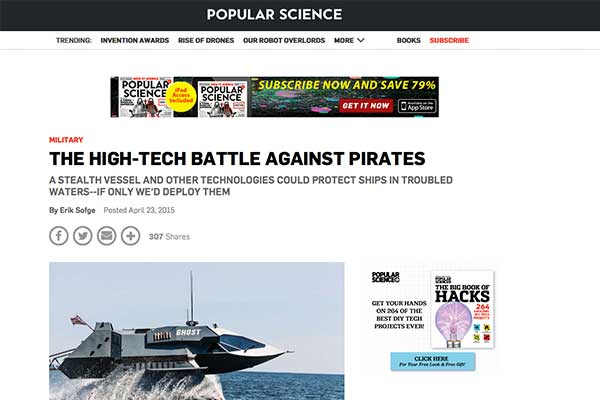 Popular Science Touts Swedish 'Force 80' Anti-Pirate Water Cannon