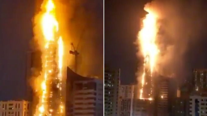 Another Devastating (and Preventable) High Rise Façade Fire Erupts in Abbco Tower in Sharjah, UAE